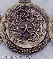 """2.5"""" Stock Cast Medallion (Victory Star/ Male)"""