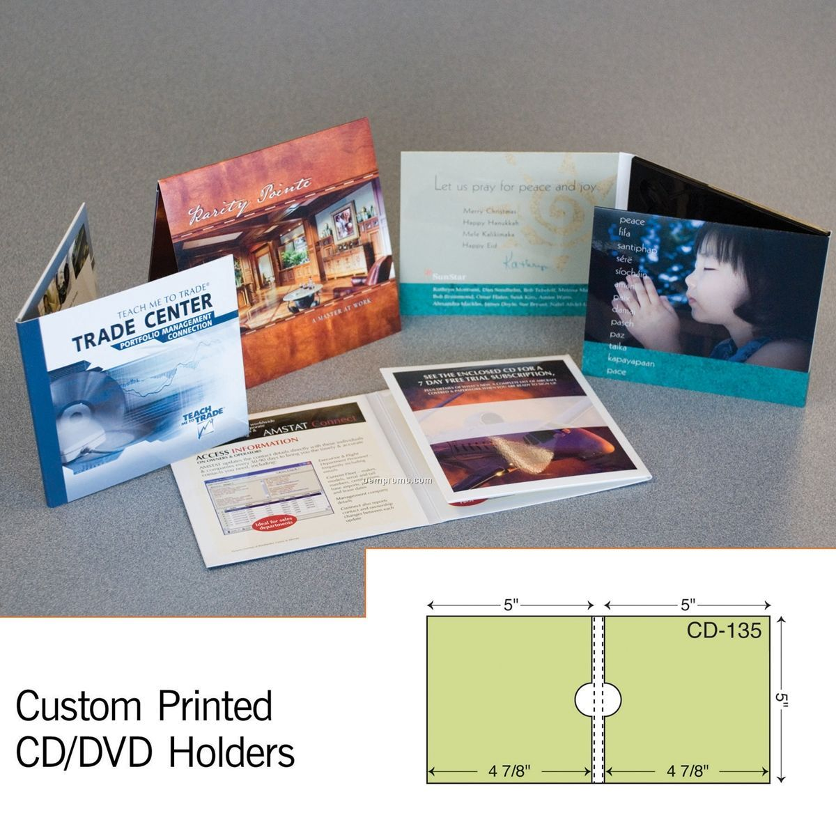 "Double CD Sleeve W/ 1/4"" Spine (1 Color/1 Side)"
