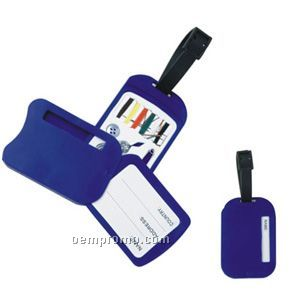 Privacy Luggage Tag W/Sewing Kit
