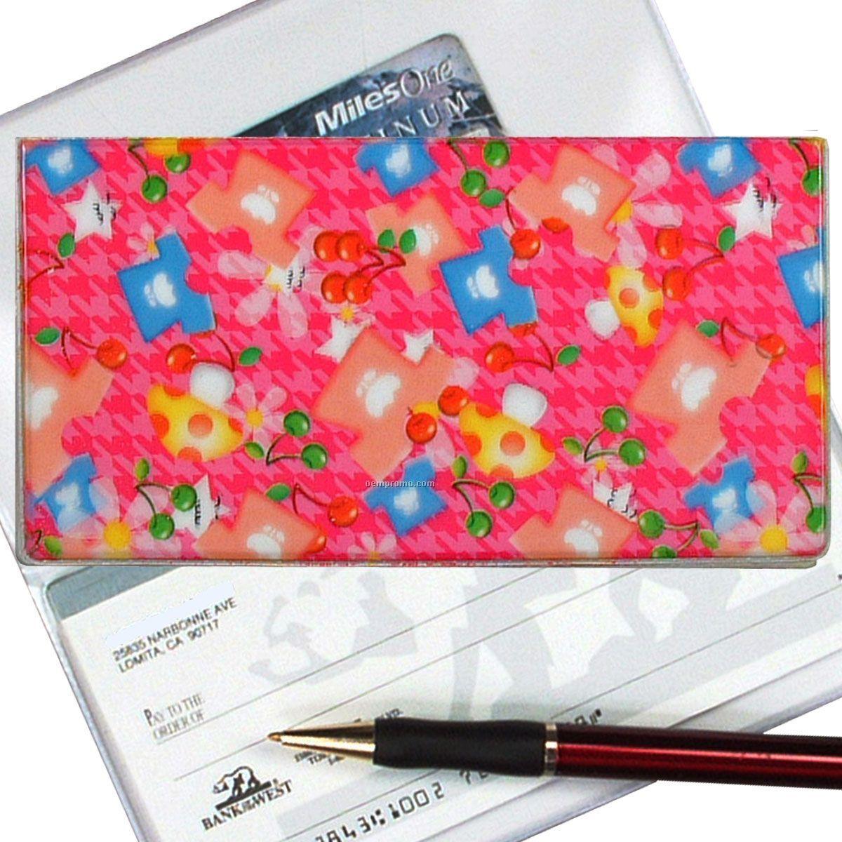 3d Lenticular Checkbook Cover (Mushrooms & Flowers)