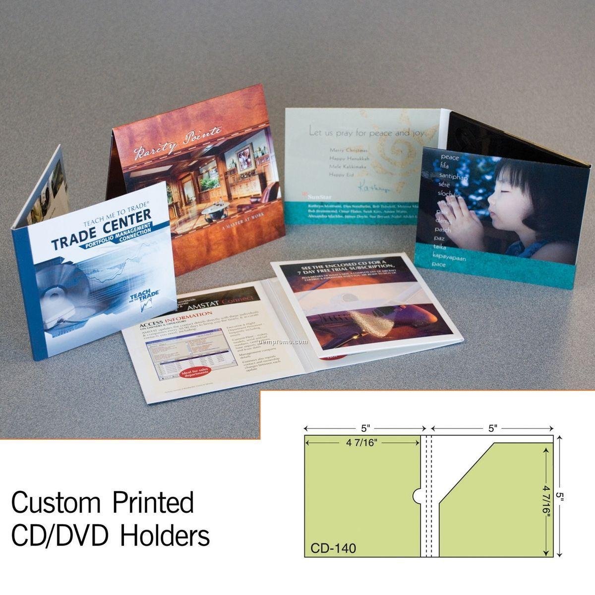 """CD & Booklet Sleeve W/ 4 7/16"""" Pocket (1 Color/1 Side)"""