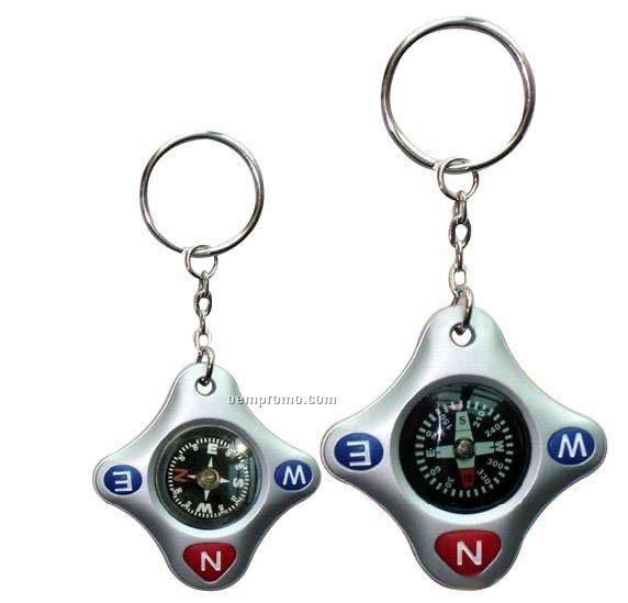 Diamond Key Chain W/Compass