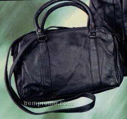 Handbag With E/W Top Zipper, 2 Handle Swagger & Shoulder Strap