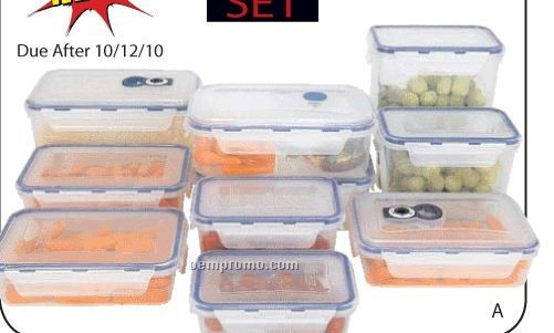 Lacuisine 20 PC Locking Storage Container Set