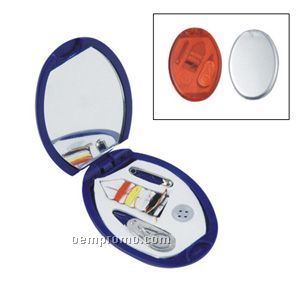 Oval Sewing Kit W/Mirror