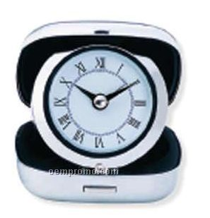 Stainless Steel Case Travel Alarm Clock