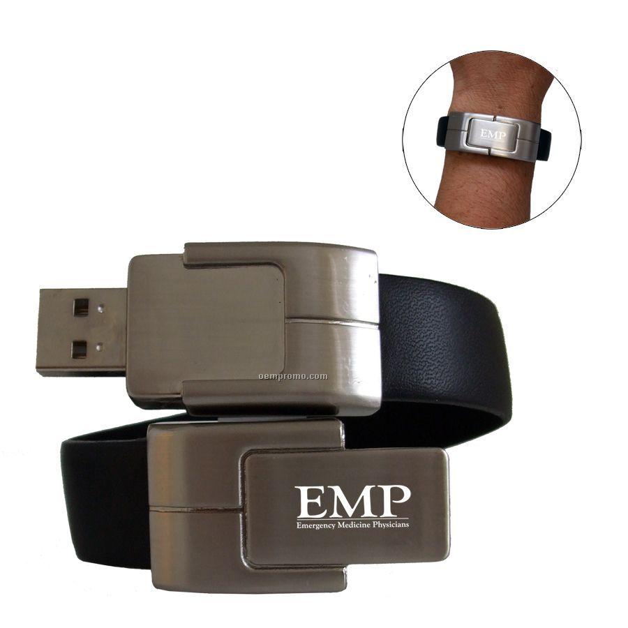 USB Wristband - Leather