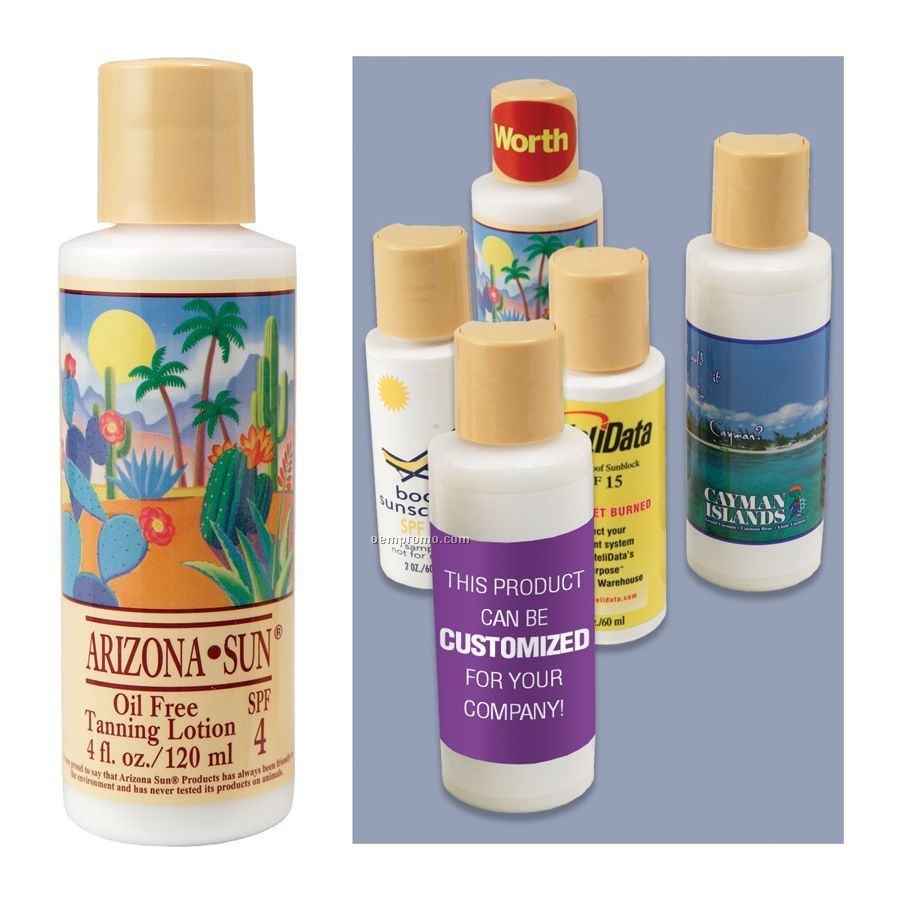 4 Oz. Oil Free Tanning Lotion With Spf 4
