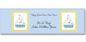 8 Oz. Flat Cap Bottled Water W/ Label (Baby Shower-love Has A New Name/Boy)