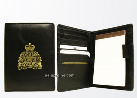 Bi Fold Lambskin Napa Note Pad W/ 8 Credit Card Slot / Black