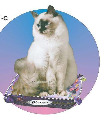 Birman Cat Acrylic Coaster W/ Felt Back
