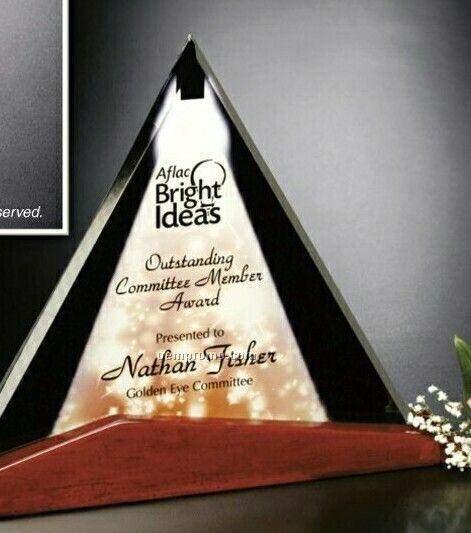 "Crystal Illumachrome Parkdale Triangle Award (10 1/2""X8""X2"")"