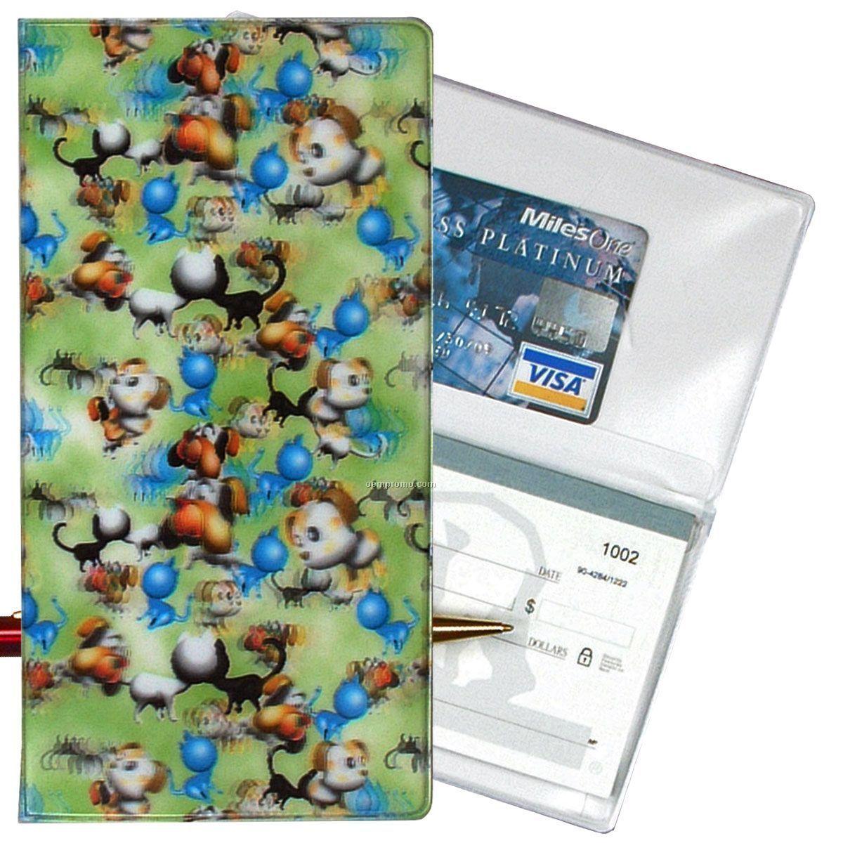 3d Lenticular Checkbook Cover (Pets)