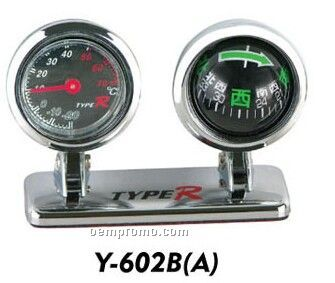 Car Thermometer Compass