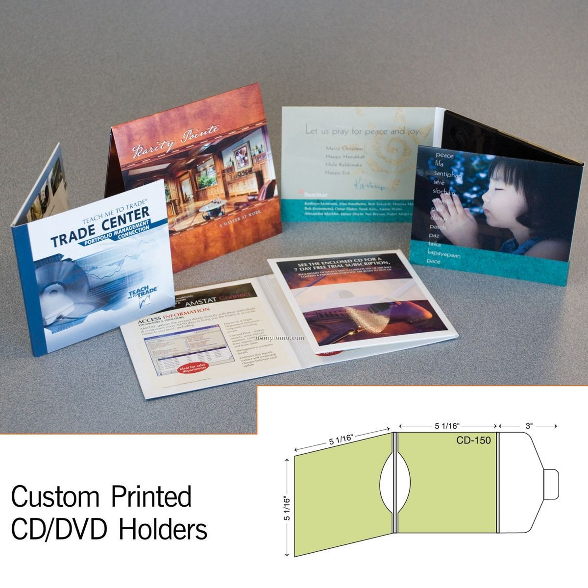Double CD Sleeve Mailer W/ Tuck Flap (1 Color/1 Side)