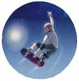 "Holographic Mylar - 2"" Skateboard"