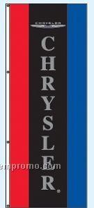 Single Face Dealer Interceptor Drape Flags - Chrysler