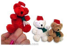 Custom Plush Christmas Teddy Bear Finger Puppets