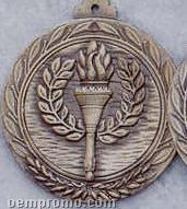 """2.5"""" Stock Cast Medallion (Victory Torch)"""