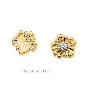 Ladies' 14ky 11mm Flower Earring Jacket