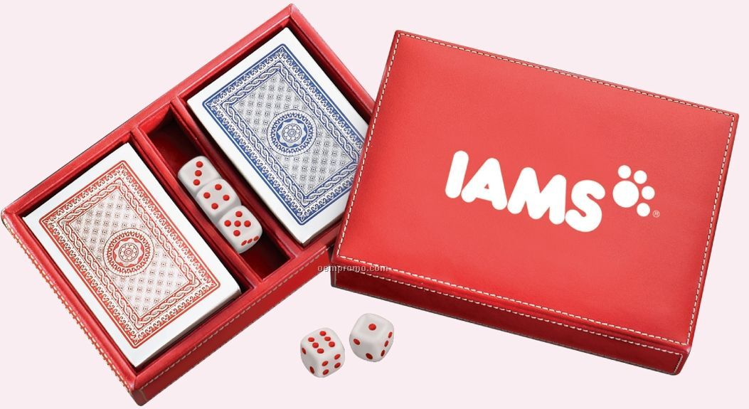 Reno Deluxe Leather Playing Card Case
