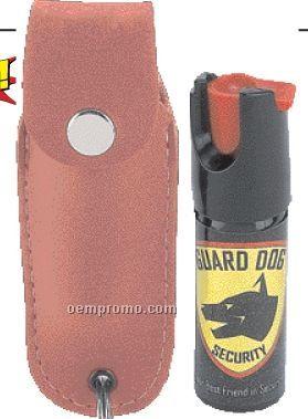 Tear Gas Spray W/ Pink Faux Leather Case & Key Ring