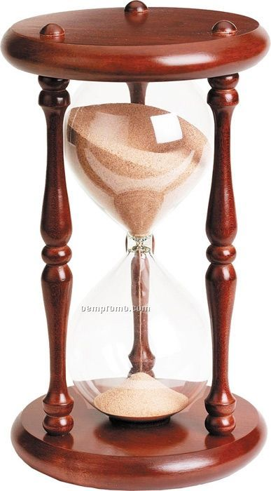 "12"" Cherry Wood 60 Minute Wood Timer"