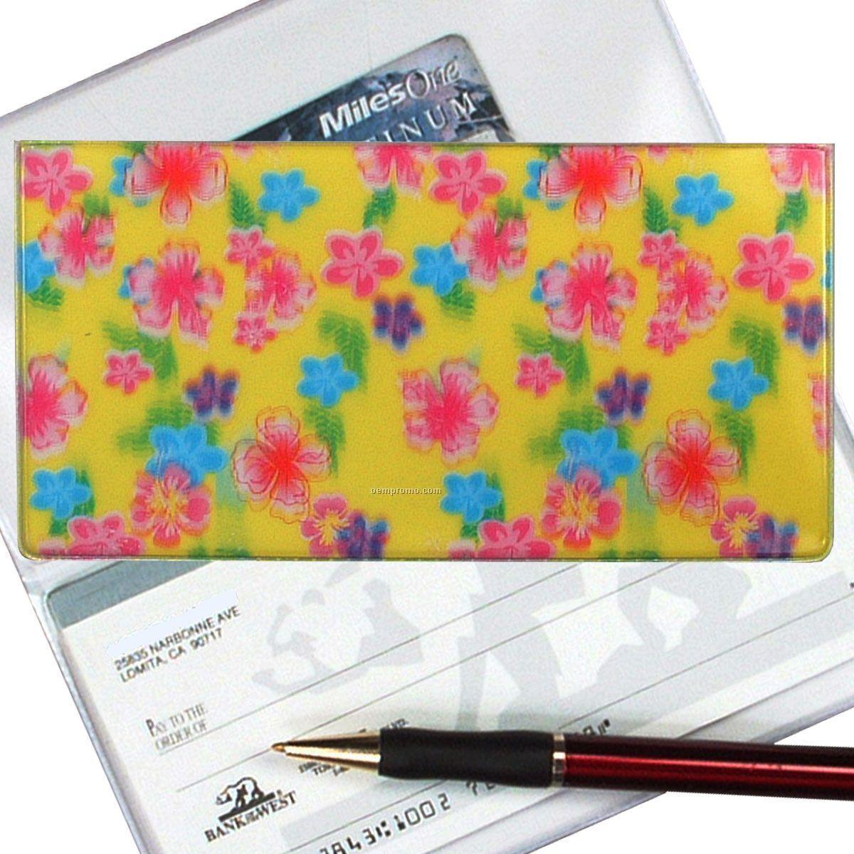 3d Lenticular Checkbook Cover (Flowers)