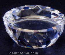 "4""X4""X1-1/2"" Crystal Half Dome Base"