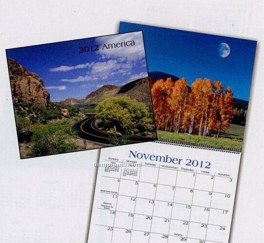 America Wall Calendar (January - April)