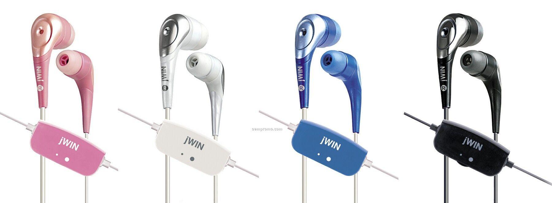 Jwin Stereo In-ear Earphones W/ Vc