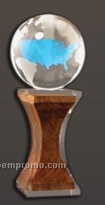Wood In Lucite Eco Award Embedment Base