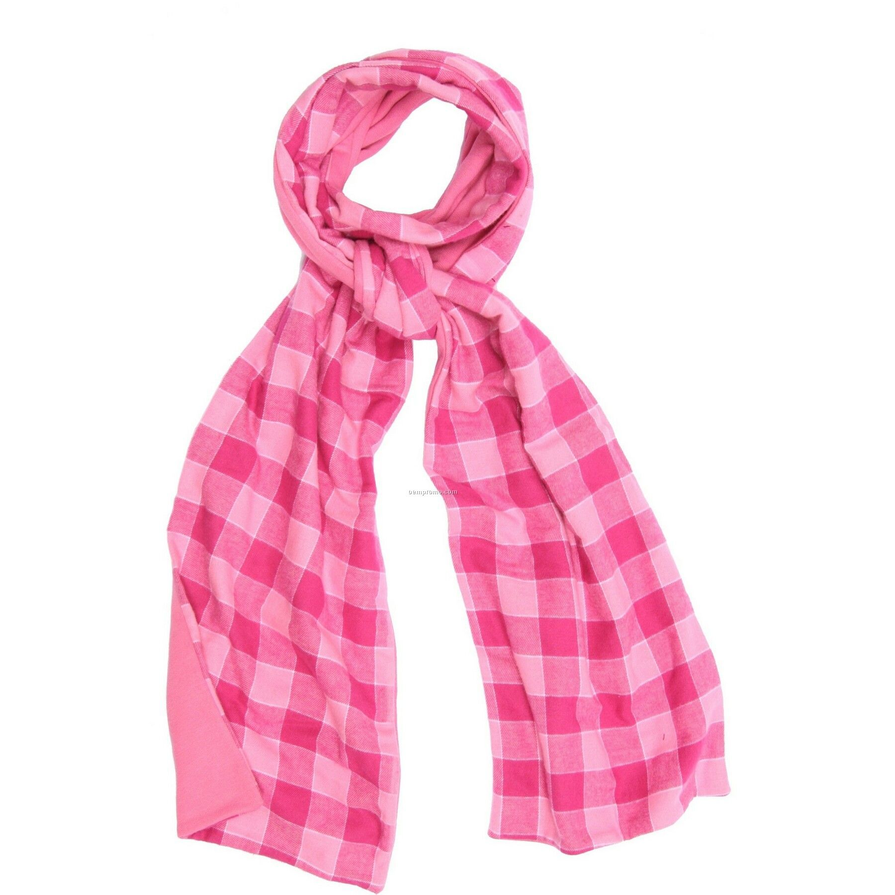 bubblegum pink flannel scarf w pink fleece china wholesale