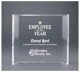 "Crescent Crystal Clear Acrylic Award / Freestanding Curve (6""X8"")"