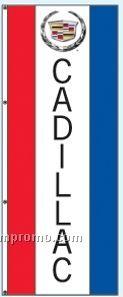Single Face Dealer Interceptor Drape Flags - Cadillac