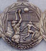 """1.5"""" Stock Cast Medallion (Volleyball/ Female)"""