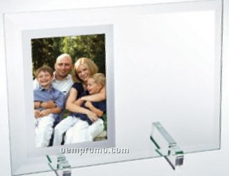 "Beveled Glass Vertical Mirror Photo Frame (8""X11""X3/16"")"