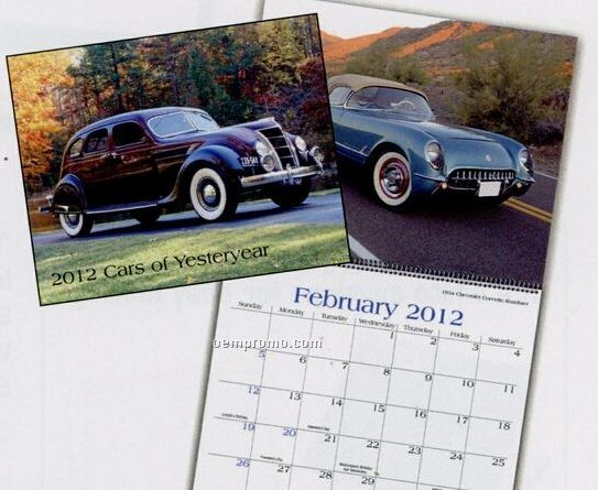 Cars Of Yesteryear Wall Calendar (January - April)
