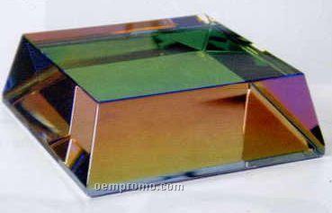 """Crystal Beveled Rainbow Base (3""""X3""""X1"""")"""