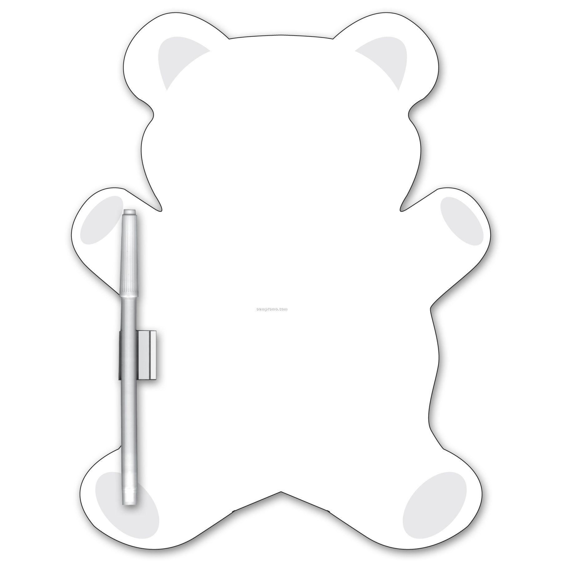 Write On/ Wipe Off Teddy Bear Shape Memo Board