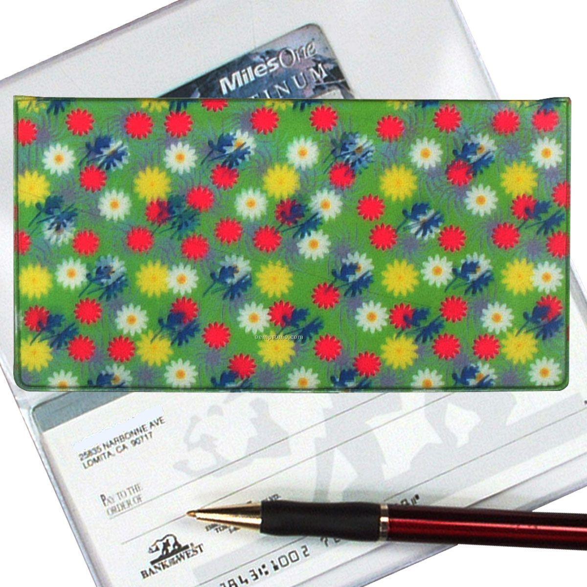 3d Lenticular Checkbook Cover (Daisies)