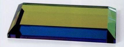 """Crystal Beveled Rainbow Base (4""""X2""""X1/2"""")"""