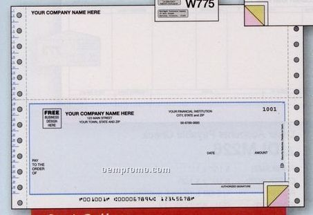 Multipurpose Check - Peachtree Compatible (2 Part)