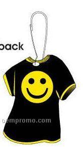 Smiley Face T-shirt Zipper Pull