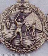 """1.5"""" Stock Cast Medallion (Volleyball/ Male)"""
