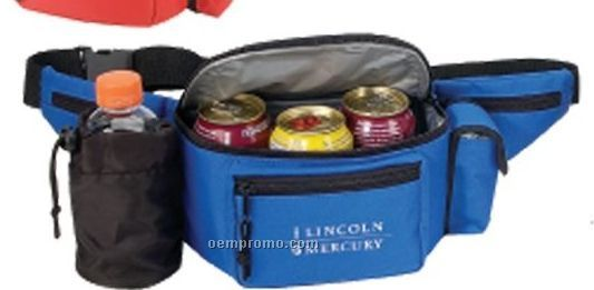 Cooler Fanny Pack W/ Bottle Holder & Cell Phone Pouch