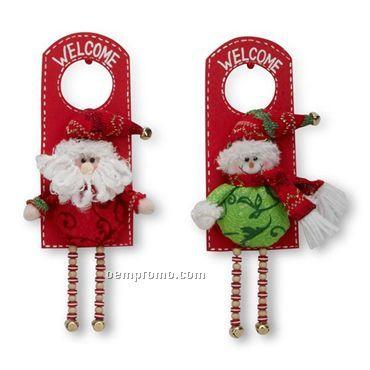 Door Hanging Santa