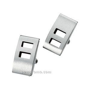 Gents' Stainless Steel Cuff Link
