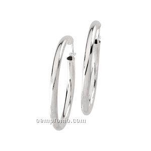 Ladies' Stainless Steel 26-1/2mm Hoop Earring