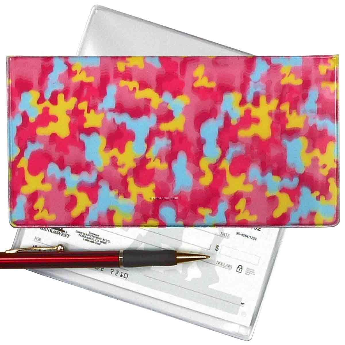 Red 3d Lenticular Checkbook Cover (Camo)